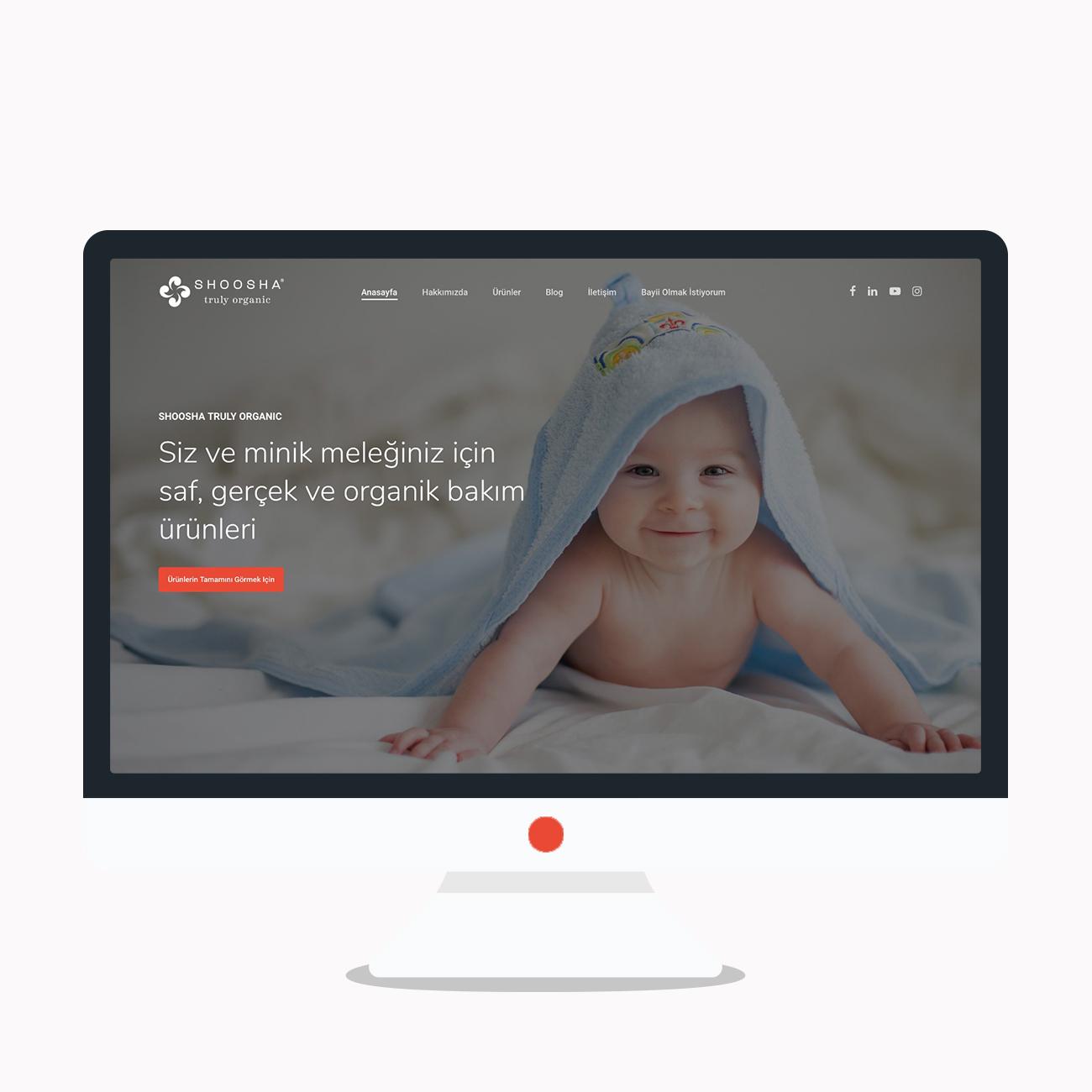 Gunery Media Web Design beauty baby care shoosha Desktop