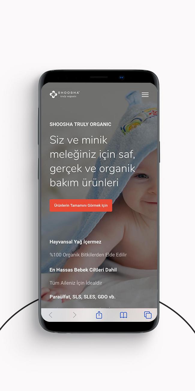 Gunery Media Web Design beauty baby care shoosha mobile