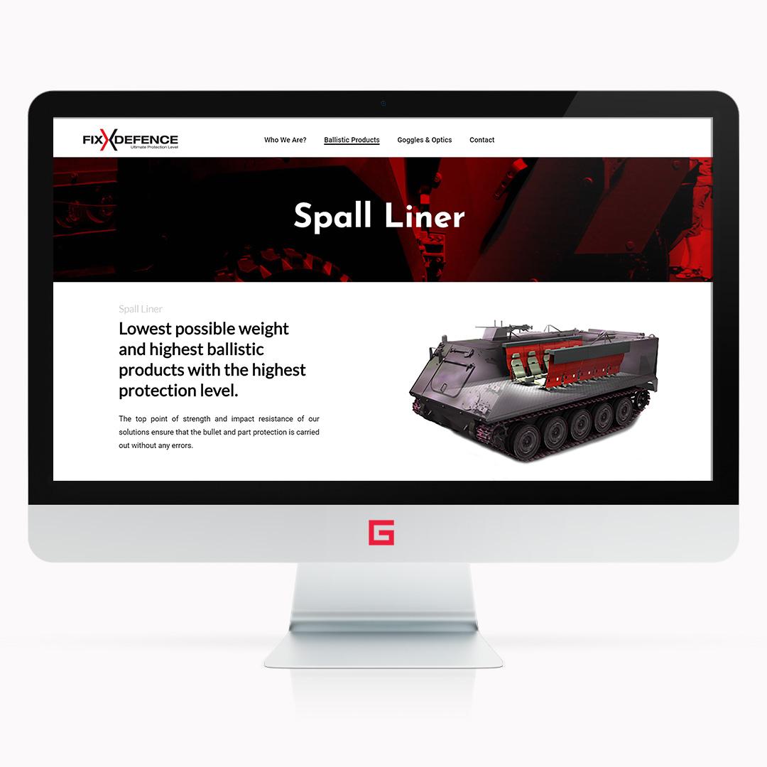 Gunery digital agency Fix defence industry web design graphic design photo 3