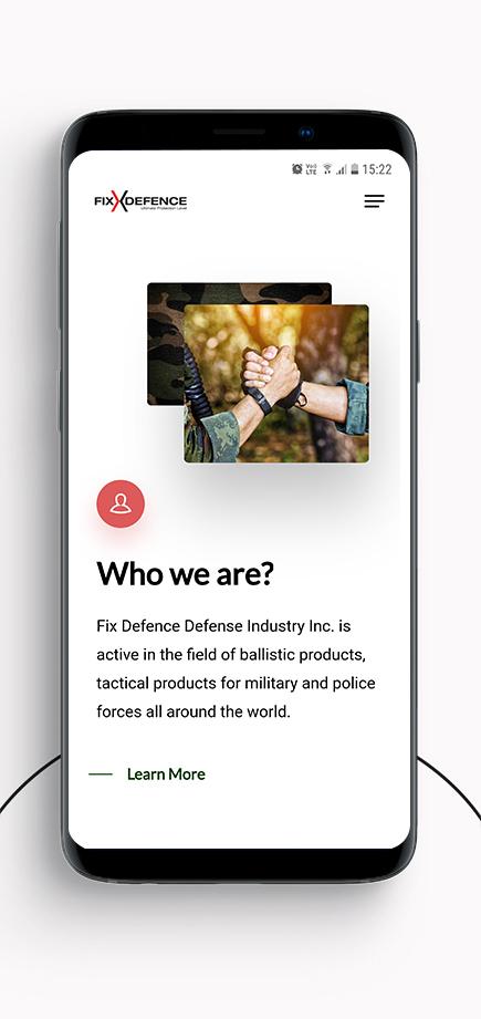 Gunery digital agency Fix defence industry web design mobile web design photo 3